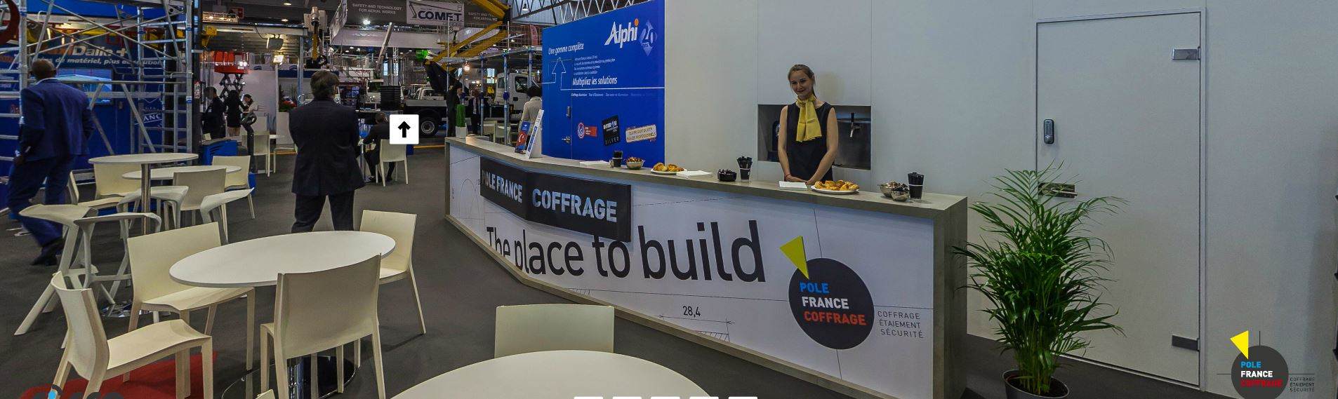 Vue 360° stand Pôle France Coffrage Intermat